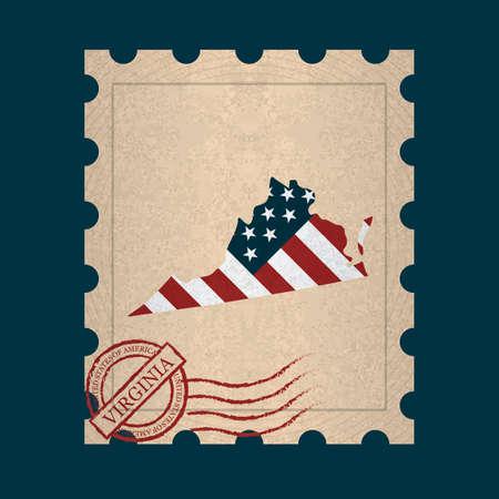 sello postal: Virginia sello de correos