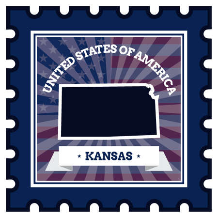 sello postal: Kansas sello de correos