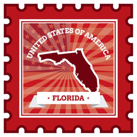 sello postal: Florida sello de correos