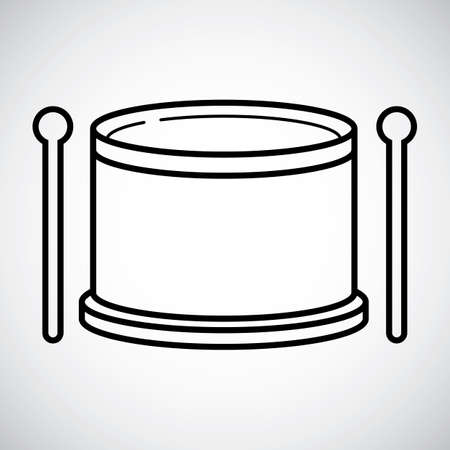 drum and bass: Bass drum with stick Illustration