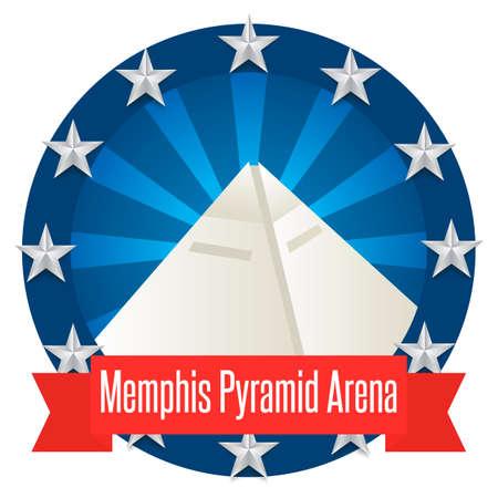 memphis: Memphis pyramid arena Illustration
