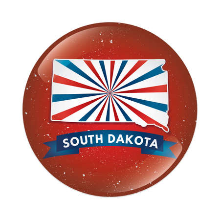 south dakota: South Dakota map button