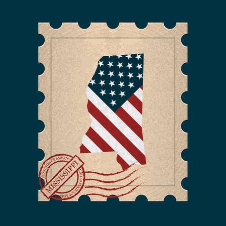 postage stamp: Mississippi postage stamp