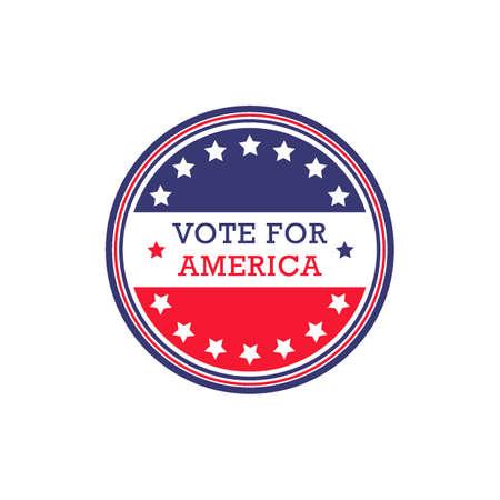 vote label: USA vote label Illustration
