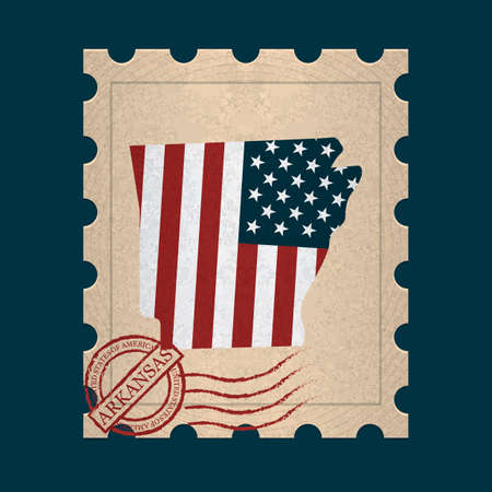 postage stamp: Arkansas postage stamp