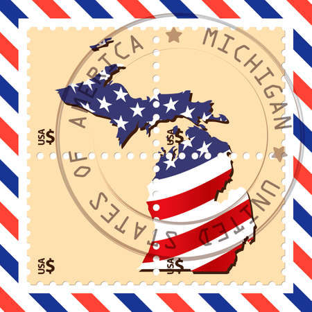 michigan: Michigan stamp