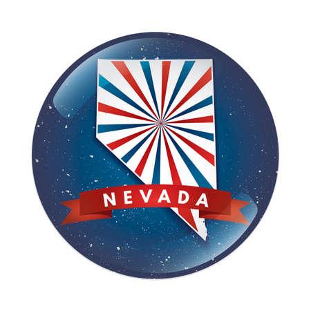 nevada: Nevada map button Illustration