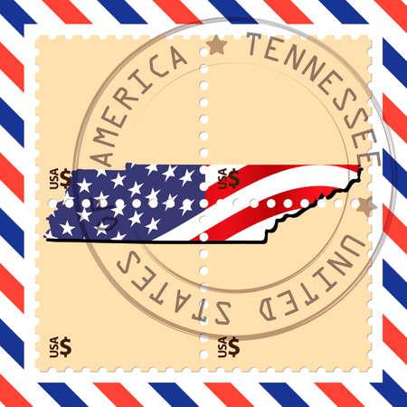 tennesse: sello de Tennessee Vectores