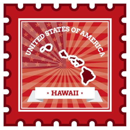 sello postal: Hawaii sello de correos Vectores