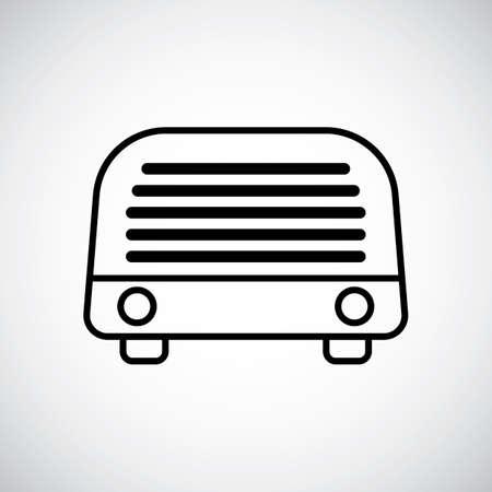 lightweight: Radio Illustration