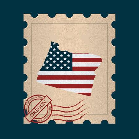 sello postal: Oregon sello de correos
