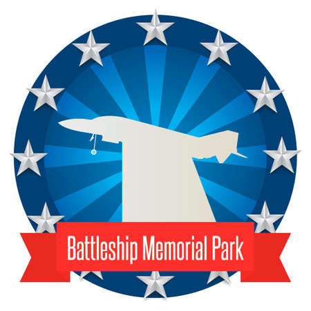 park: Battleship memorial park Illustration