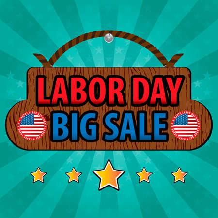 big sale: Labor day big sale design Illustration