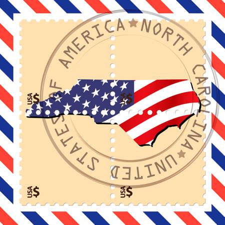 north carolina: North Carolina stamp