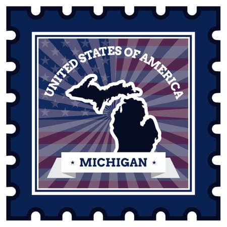 sello postal: Michigan sello de correos