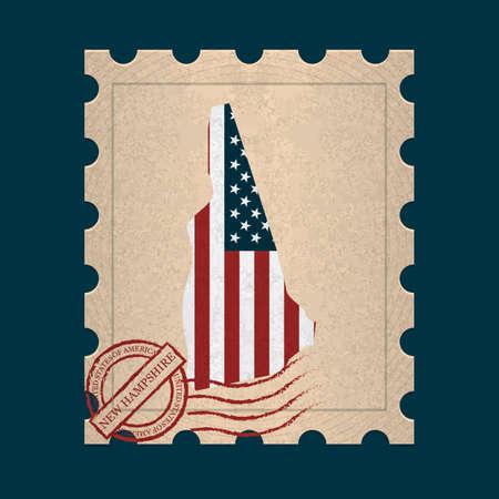 postage stamp: New hampshire  postage stamp