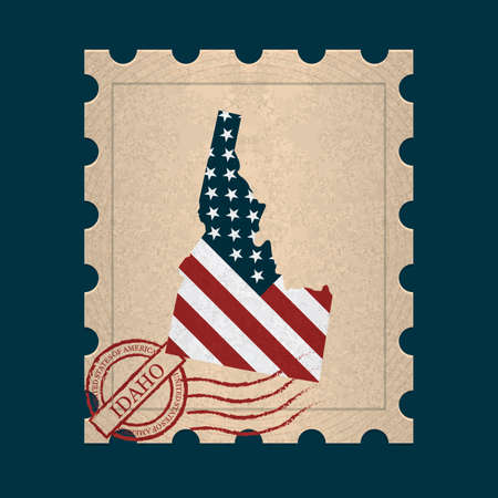 postage stamp: Idaho postage stamp
