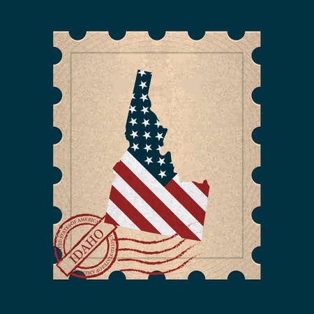 sello postal: Idaho sello de correos