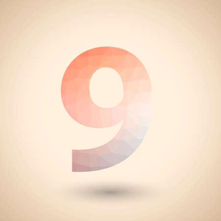 numero nueve: Número nueve  Vectores