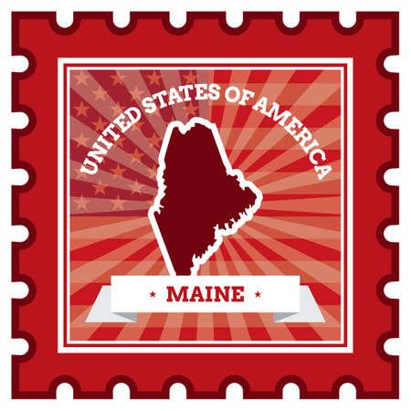 postage stamp: Maine postage stamp