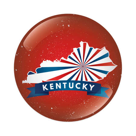 kentucky: Kentucky map button Illustration