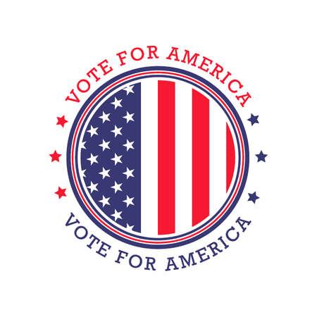 USA vote label Illustration