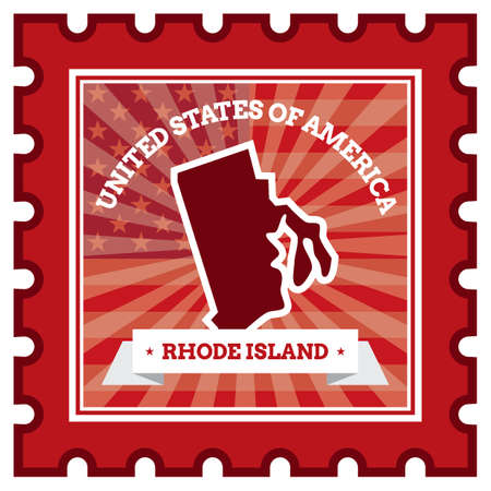 postage: Rhode island postage stamp