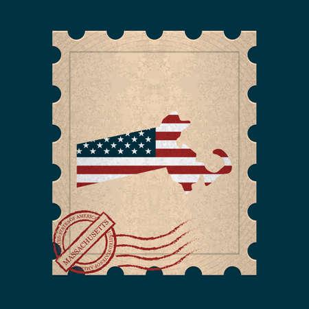 postage stamp: Massachusetts postage stamp
