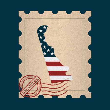 postage stamp: Delaware postage stamp