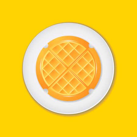 와플: Belgian waffle 일러스트