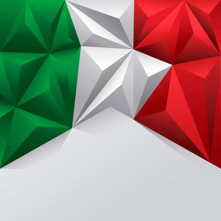 flag template: Italian flag template