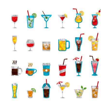 port wine: Set of various drinks