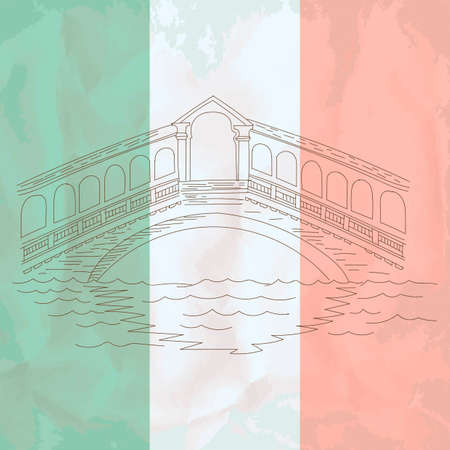 rialto bridge: Rialto Bridge Illustration