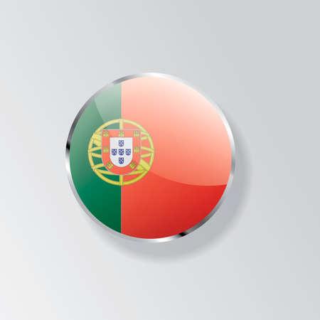 bandera de portugal: Portugal divisa de la bandera Vectores