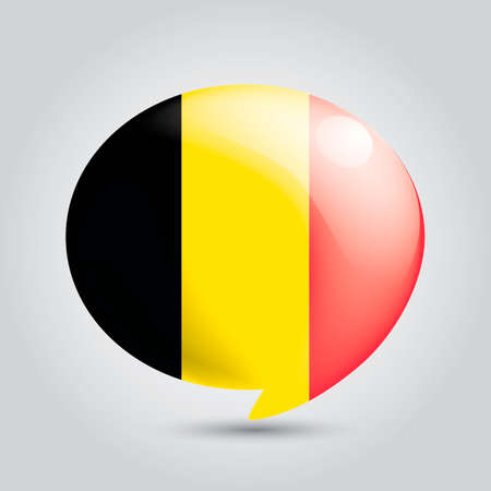 chat bubble: Chat bubble with belgium flag