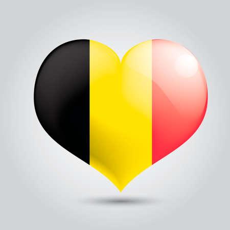 flag: Heart with belgium flag