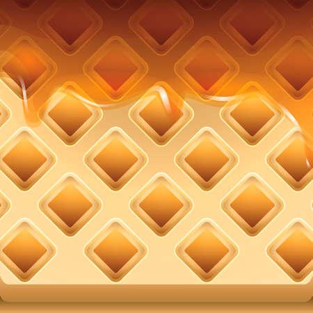belgian: Belgian waffles Illustration