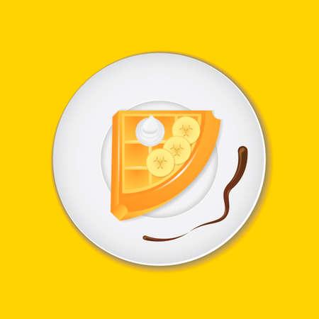 crisp: Belgian waffle Illustration