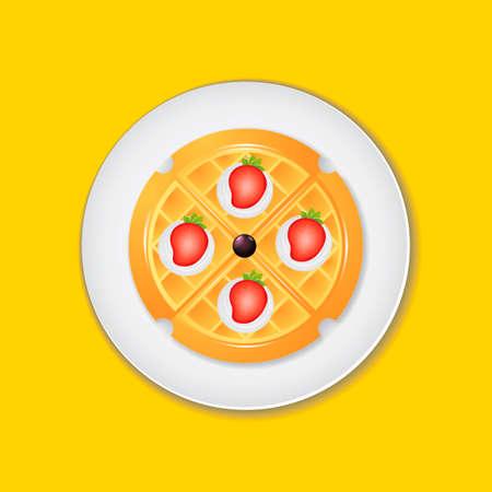 belgian waffle: Belgian waffle Illustration