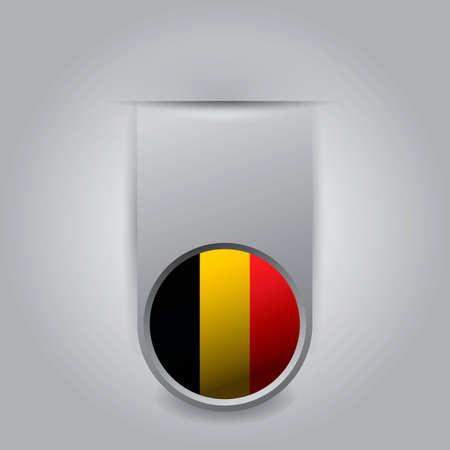 flag: Bookmark with belgium flag