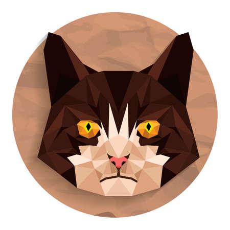 animal heads: Cat