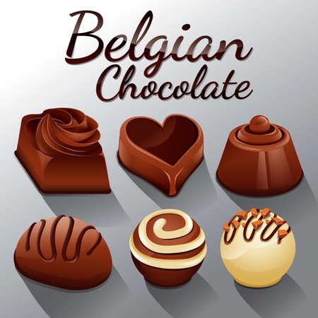 belgian: Set of belgian chocolates