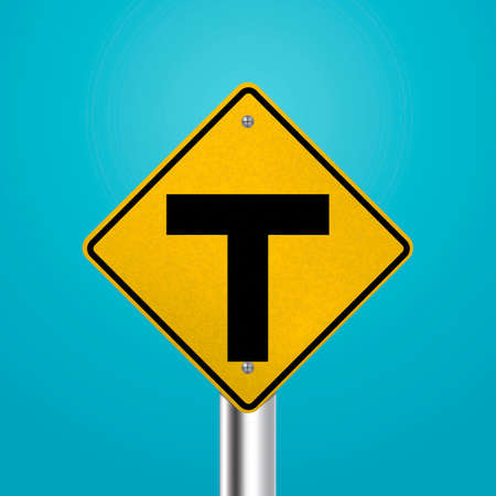 intersection: T intersection signboard