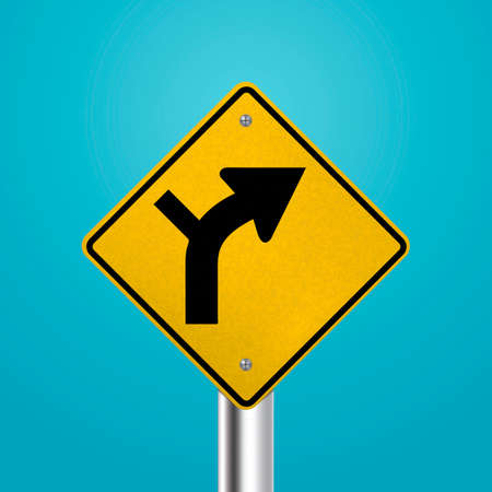 curve: Intersection within curve signboard