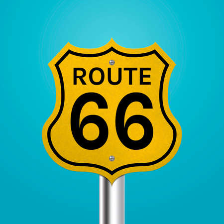 route: Route 66 signboard Illustration