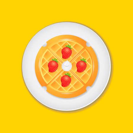 mozzarella: Belgian waffle Illustration