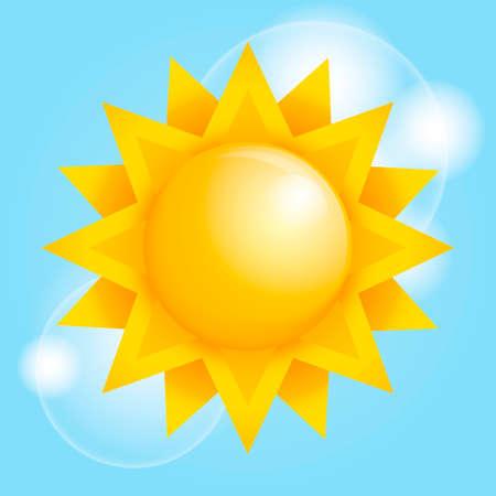 słońce: Sun Ilustracja