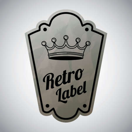 retro: Retro label Illustration