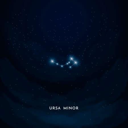 Ursa Minor constellatie Stock Illustratie