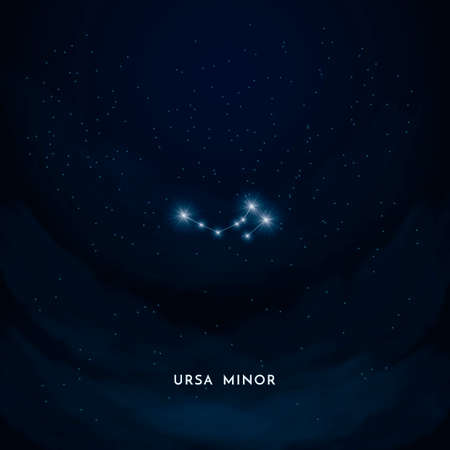 minor: Ursa minor constellation Illustration